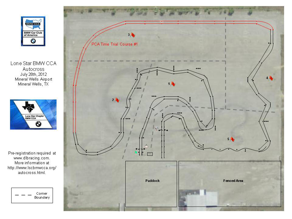 Lone Star Chapter BMW Autocross #5 - July 28th, 2012 Mineral Wells Airpark