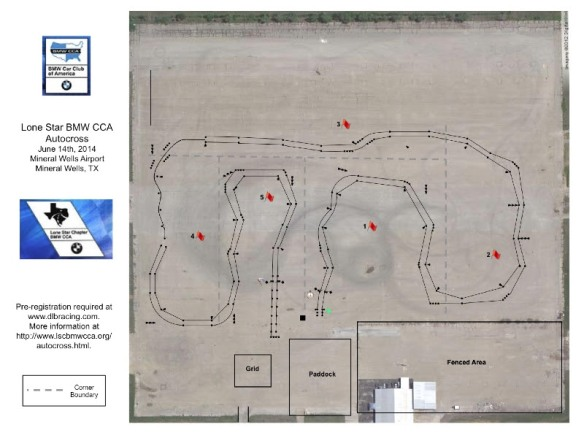 AutoX #4 Course for Saturday 6/14 at Mineral Wells